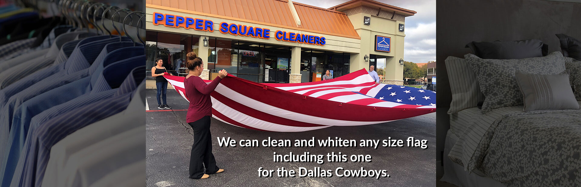 Dry clean Large Flags